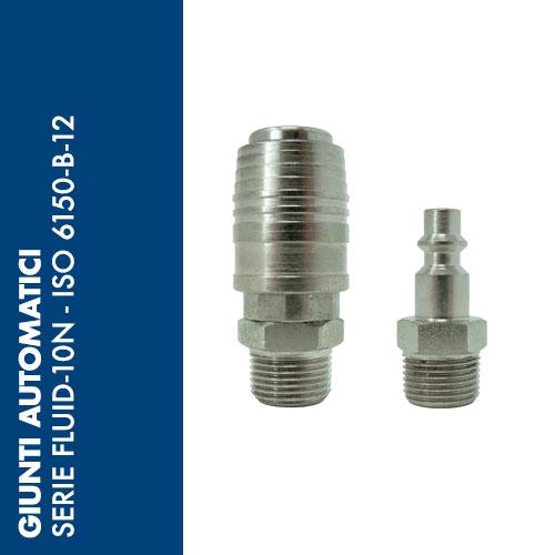 F10N - Giunti Automatici Serie FLUID-10N - Profilo ISO 6150-B-12