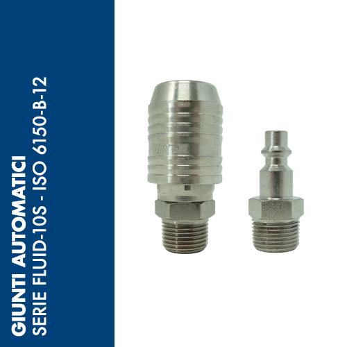 F10S - Giunti Automatici di Sicurezza Serie FLUID-10S - Profilo ISO 6150-B-12