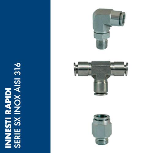 SX - Innesti rapidi Inox AISI 316