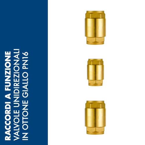 CHV4 - Valvola Unidirezionale in Ottone Giallo PN 16