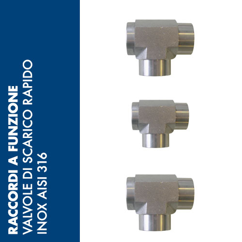 SCRI - Valvole di Scarico Rapido Inox AISI 316