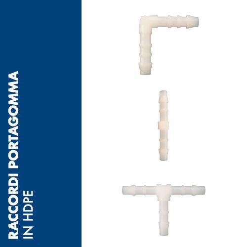50PE - Raccordi portagomma in HDPE