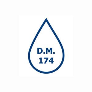 Logo DM174F - DM174/2004 - Raccordi in PVDF - Dichiarazione di Conformità D.M. 174/2004 - Raccordi in PVDF