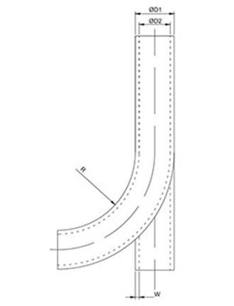 Dibujo técnico PUKS Manguera de poliuretano a prueba de chispas según DIN 5510-2